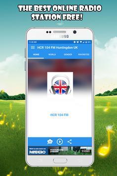 HCR 104 FM Huntingdon App UK free listen Online poster
