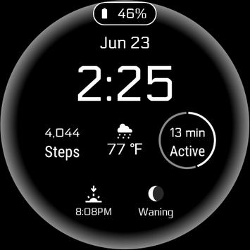 Simple Digital Watch Face poster