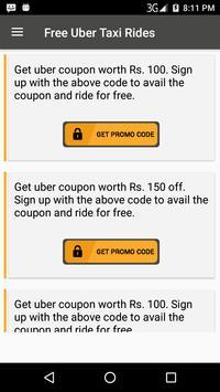 Free Taxi Trips - Cab Promo Codes apk screenshot