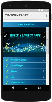 VaShawn Mitchell Lyrics Music apk screenshot