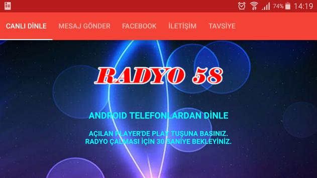 Radyo 58 apk screenshot