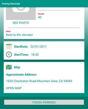 Parking Reminder apk screenshot
