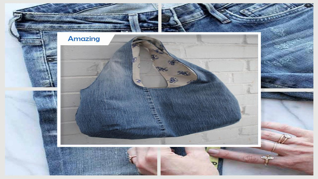 Clever DIY Old Jeans Craft Projects poster