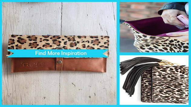 DIY Leopard Clutch Idea poster