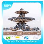 Snow in Paris Wallpaper icon