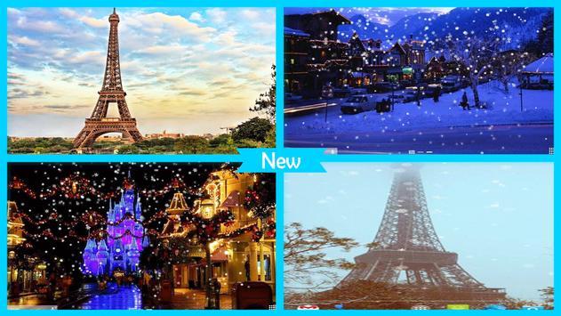 Snow in Paris Wallpaper screenshot 2