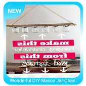 Wonderful DIY Mason Jar Chandelier icon