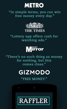 Raffler - Win cash for free poster