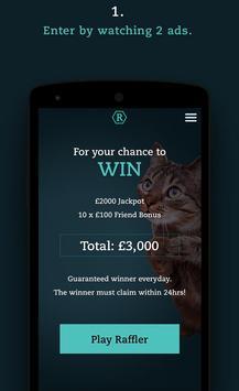 Raffler - Win cash for free apk screenshot