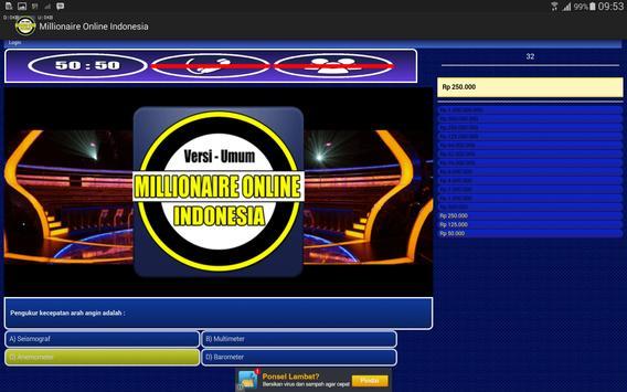 Millionaire Online Indonesia poster