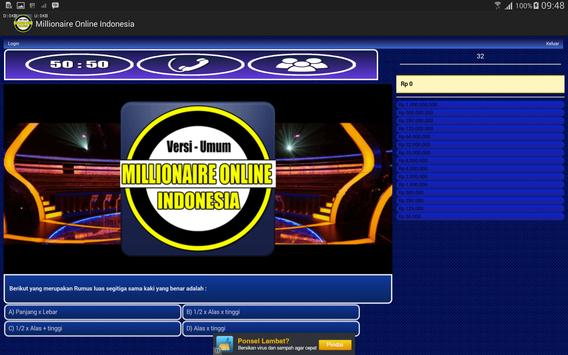 Millionaire Online Indonesia apk screenshot