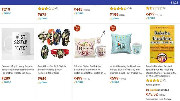 Raksha Bhandhan gifts for Brothers and Sisters screenshot 1