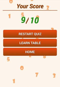 Math Tables With Audio apk screenshot
