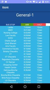 BHU Bus Tracking apk screenshot