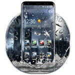 3D Rain Broken Glass Theme APK