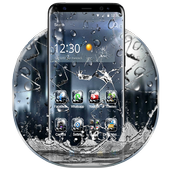 3D Rain Broken Glass Theme 圖標