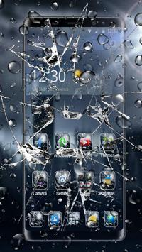 3D Rain Broken Glass Theme 海報