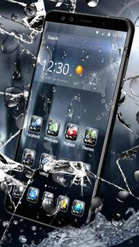 3D Rain Broken Glass Theme 截圖 1
