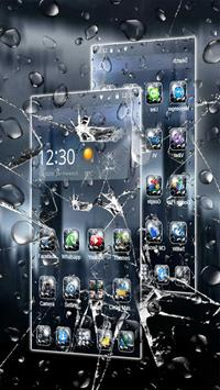 3D Rain Broken Glass Theme 截圖 2