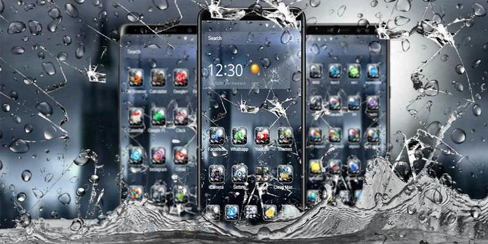 3D Rain Broken Glass Theme 截圖 3