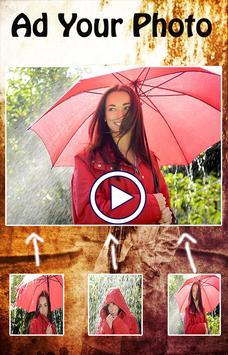 Rainy Photo Video Maker poster