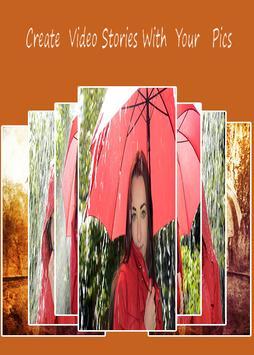 Rainy Photo Video Maker screenshot 1