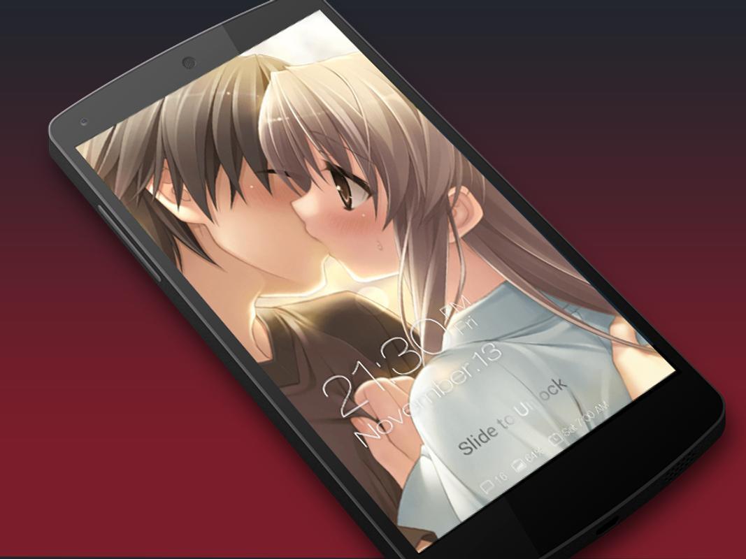 Anime Kiss Romantic Lockscreen Plakat APK Bildschirmaufnahme