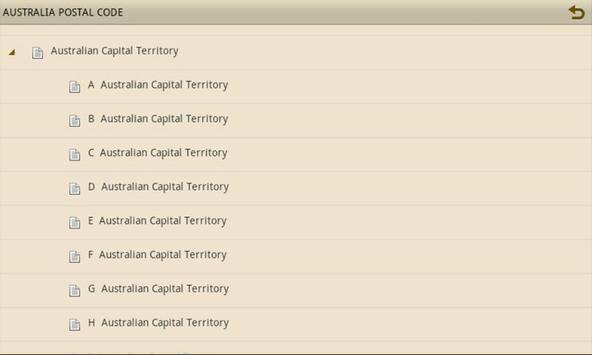 AUSTRALIA POSTAL CODE apk screenshot
