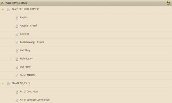 CATHOLIC PRAYER BOOK screenshot 1