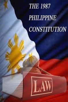 1987 Philippine Constitution poster