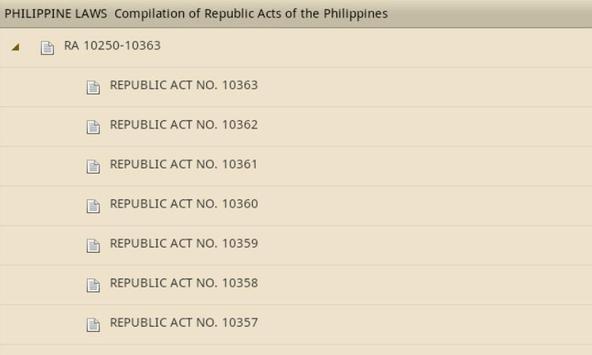Philippine Laws - Vol. 1 apk screenshot
