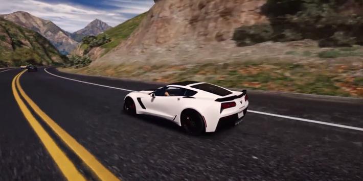 Corvette Driving Simulator 3D apk screenshot