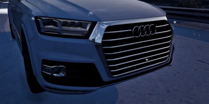 Q7 Driving Audi Winter 3D poster