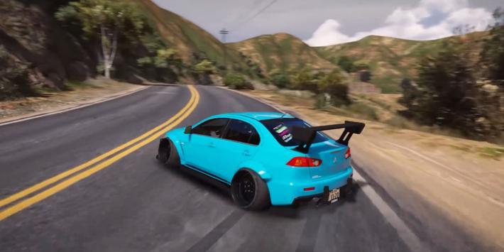 Evo X Driving Simulator 3D apk screenshot