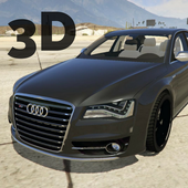 S8 Driving Audi Winter 3D icon