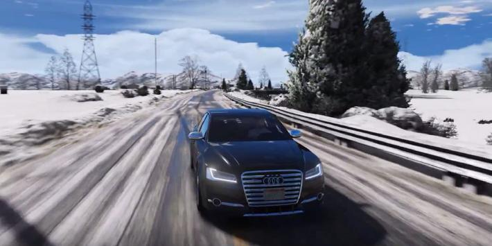 S8 Driving Audi Winter 3D apk screenshot