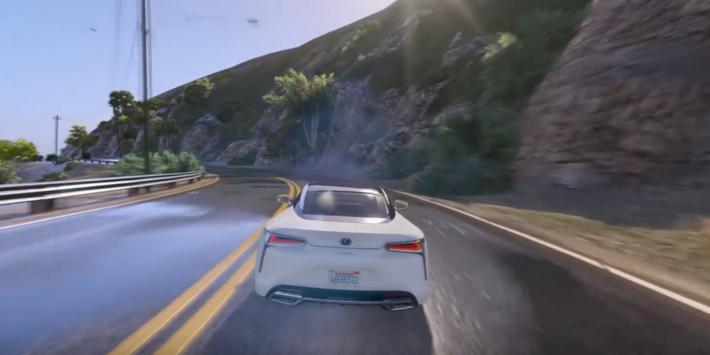 LC 500 Driving Lexus Simulator poster