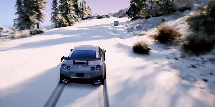 GTR Driving Nissan Winter 3D apk screenshot