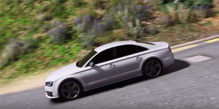 S8 Driving Audi Simulator poster