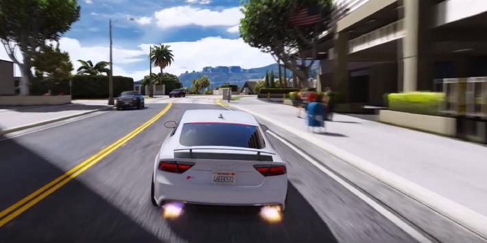 RS7 Driving Audi Simulator poster