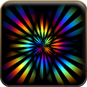 Rainbow color wallpaper icon