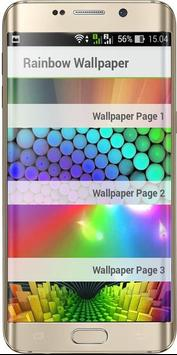 Rainbow color wallpaper poster