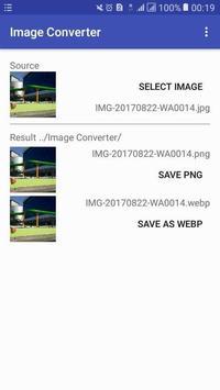 Image Format Converter : PNG to JPG to GIF to WEBP screenshot 1