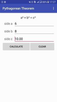 Pythagorean Calculator apk screenshot