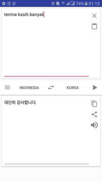 Belajar Bahasa Korea:Penerjemah Korea indonesia screenshot 2
