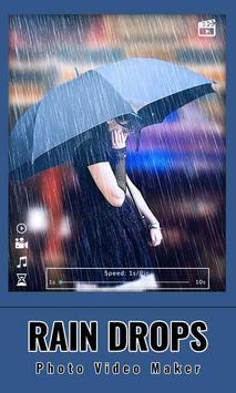 Rain drops Photo : Video Maker screenshot 4