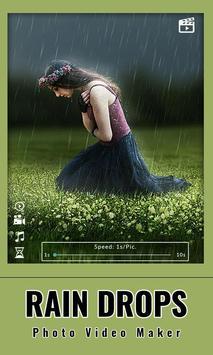 Rain drops Photo : Video Maker screenshot 5