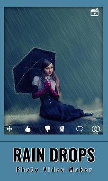 Rain drops Photo : Video Maker screenshot 6