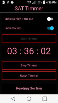 SAT Timer apk screenshot