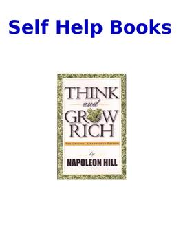 Self Help Books poster